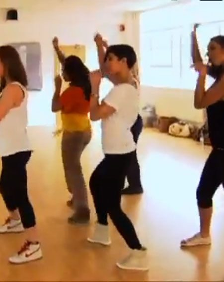 The Saturdays are seen rehearsing for one of their many show-stopping performances