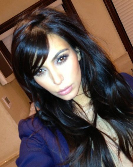 Kim Kardashian showed off her new 'do on Twitter yesterday