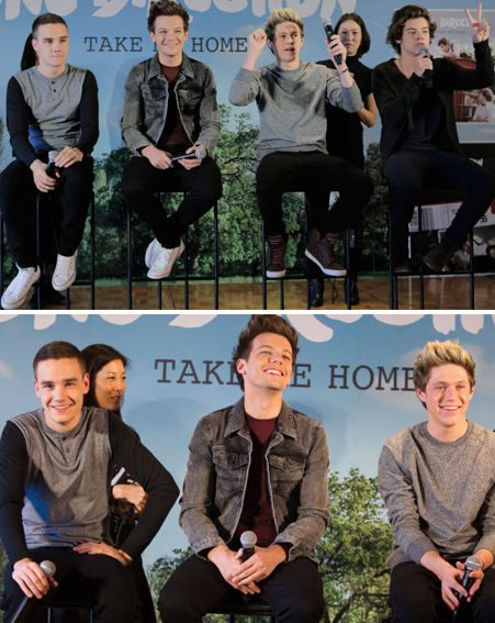 Niall Horan, Louis Tomlinson, Liam Payne and Harry Styles dealt with questions after Zayn left