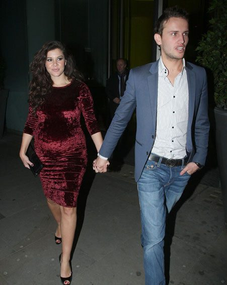 Imogen Thomas is expecting her frist baby with Adam Horsley next month