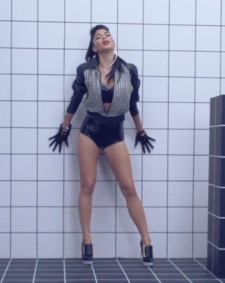 Nicole Scherzinger unveiled her new Boomerang music video this morning