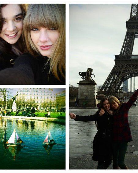 Taylor Swift has been enjoying a mini-break in Paris without Harry Styles