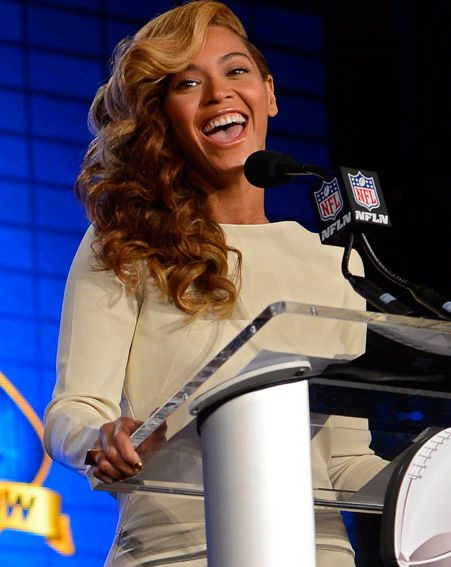 Beyonce said she can't wait to finish performing at the Super Bowl and see her daughter