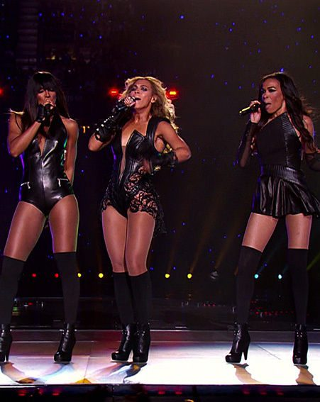 Destiny's Child reformed at the Super Bowl last night