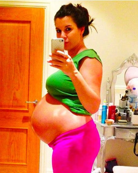 Imogen Thomas will enjoy a pampering weekend before heading into hospital for her C-section