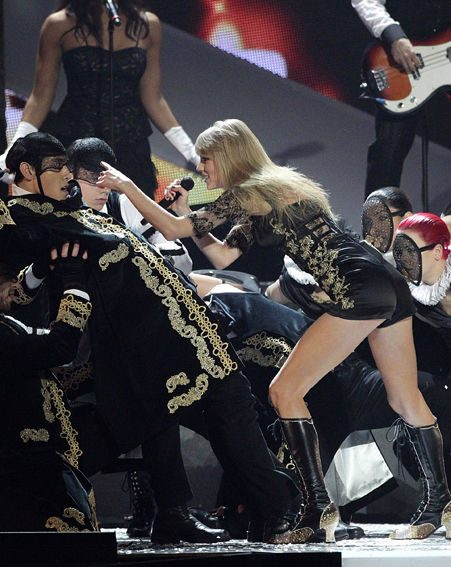 Taylor Swift gets into her high octane performance