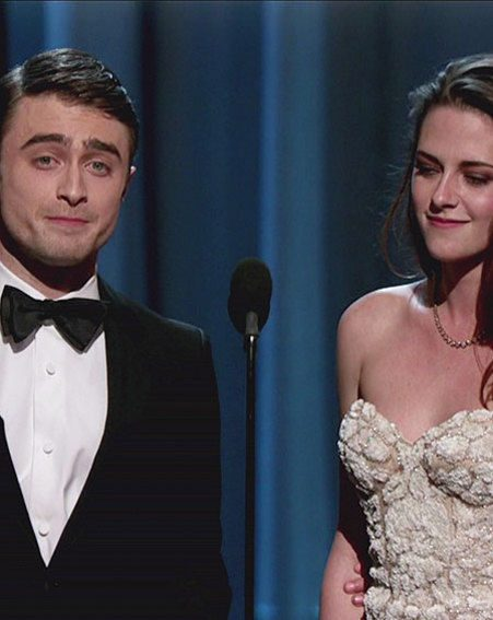 Kristen Stewart took to the stage to present an Oscar with Daniel Radcliffe