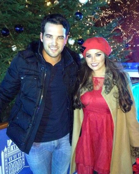 TOWIE couple Jessica Wright and Ricky Rayment stopped to pose for a Twitter snap