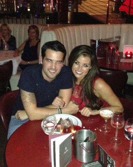 Jessica Wright and Ricky Rayment dined at Floridita in Soho after the launch party
