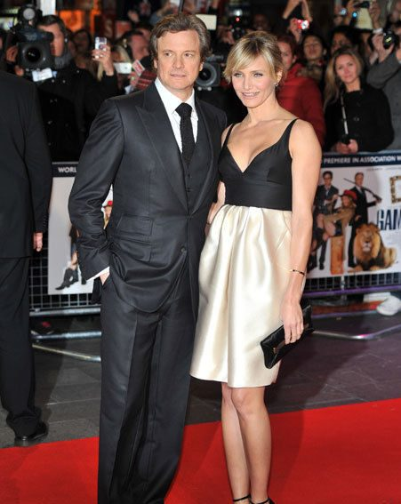 Cameron Diaz joined co-star Colin Firth at the London premiere of Gambit