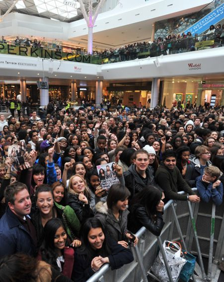 Thousands of fans came to see the Kardashians at Westfield Shopping Centre
