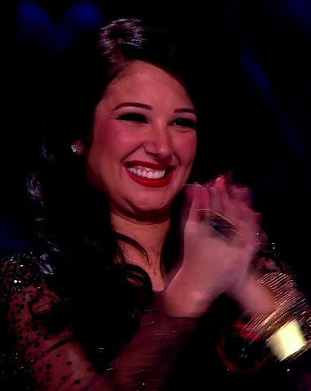 Tulisa looked impressed by Little Mix's performance