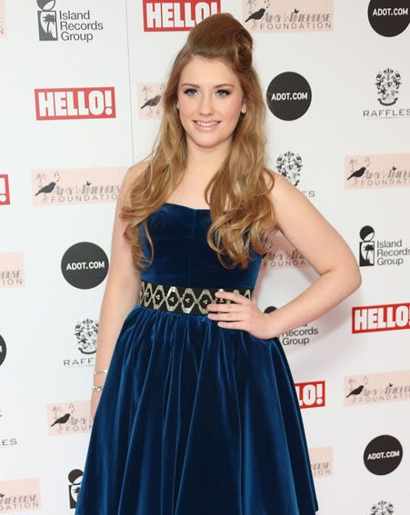 Ella Henderson looked stunning in her Ted Baker frock at the Amy Winehouse Foundation ball