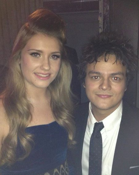 Ella Henderson posed with Jamie Cullum for a Twitter picture