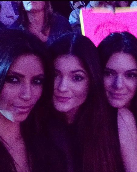 Kim Kardashian took sisters Kendall and Kylie Jenner to watch Khloe on The X Factor USA