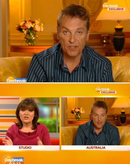 Brian Conley spoke to Lorraine Kelly about his tough time in the jungle