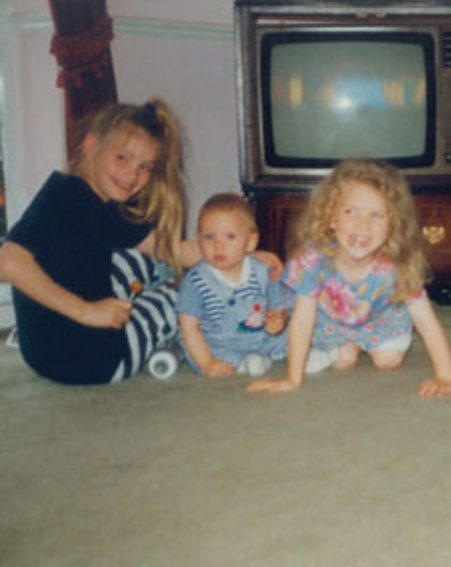 Chloe Sims, Joey Essex and Frankie Essex pose together before they were famous