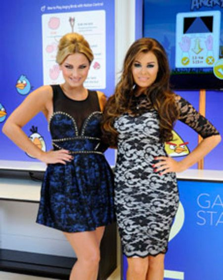 Sam Faiers and Jessica Wright went head-to-head in the Samsung Smart TV Angry Birds challenge