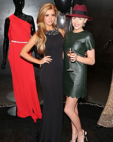 Lucy Mecklenburgh and Lydia Bright posed together at the boutique launch party