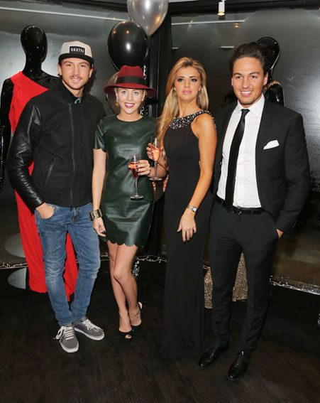 Lucy Mecklenburgh and Lydia Bright were joined by TOWIE beau's Mario Falcone and Tom Kilbey