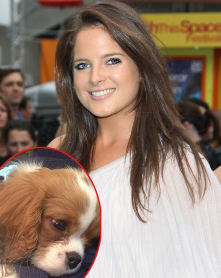 Binky Felstead and her adorable puppy Scrumble