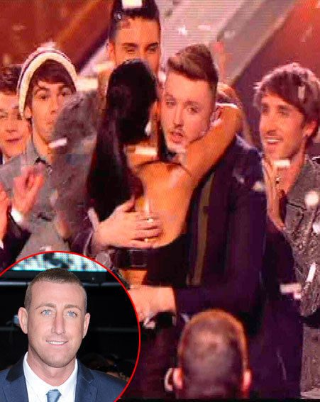 Christopher Maloney was missing from the stage when James Arthur celebrated his X Factor victory