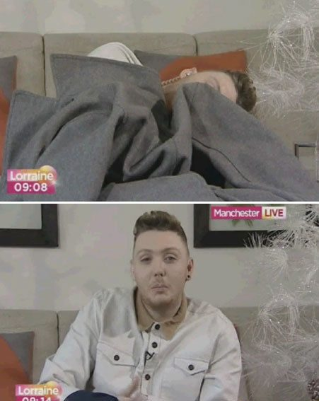 James Arthur fell asleep before his live interview slot this morning
