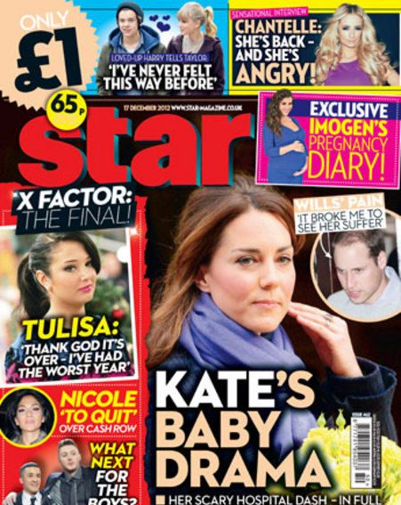 Kate Middleton baby scare - inside Star magazine this week