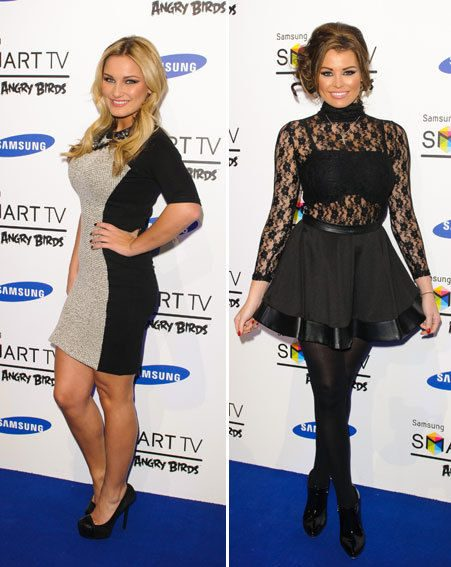 Sam Faiers and Jessica Wright attended the Angry Birds party in London last night