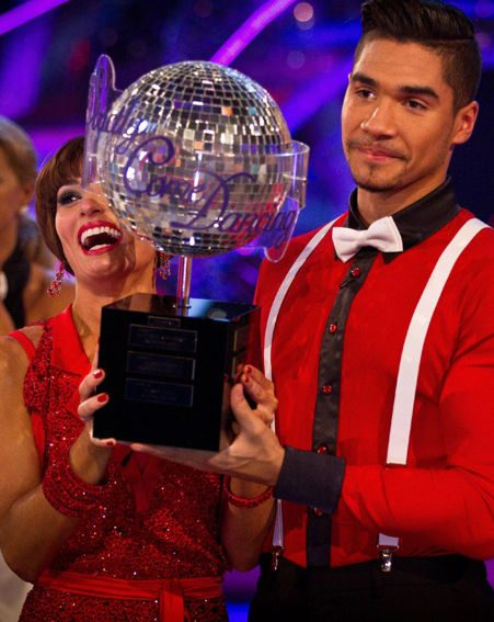 Louis Smith with the Glitterball Trophy after winning Strictly Come Dancing
