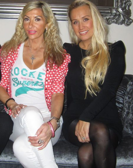 TOWIE star Leah Wright with MakeOverEssex trainer Rachel Evans