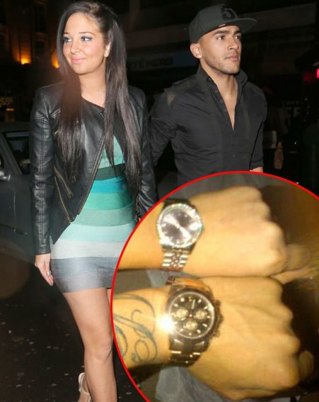 X Factor judge Tulisa and boyfriend Danny Simpson got each other matching Christmas presents