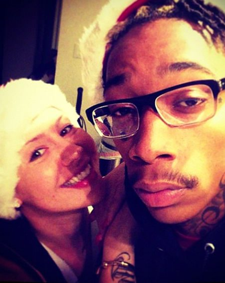 Amber Rose posted this cute snap of herself with Wiz Khalifa on Christmas Day