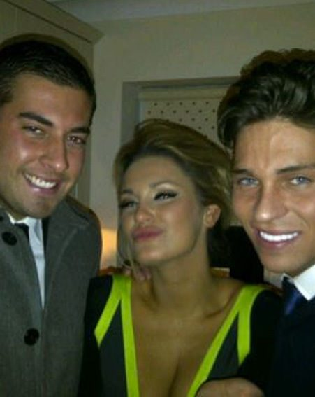 James Argent joined the hot TOWIE couple to celebrate at the bash