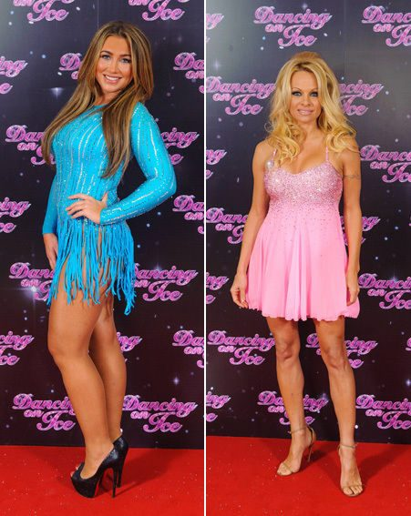 Lauren Goodger and Pamela Anderson stunned at the Dancing On Ice 2013 photo call