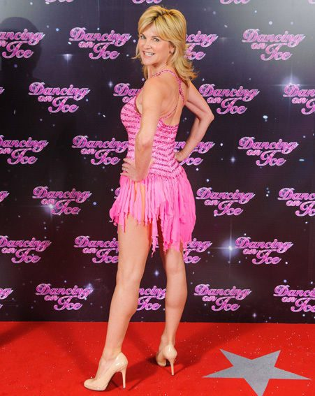 Anthea Turner showed off her toned body on the Dancing On Ice 2013 red carpet